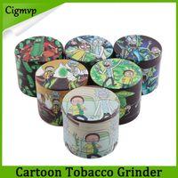Wholesale Newest Design Herb Grinder Cartoon Grinders Zinc Alloy Layers mm Tobacco Crusher for Dry Herb Metal Grinders