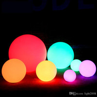 Wholesale pool table light resale online - Rechargeable LED Ball Night Light IP65 Outdoor Waterproof Color RGB Floating swimming pool bar table ball lamp Remote Control