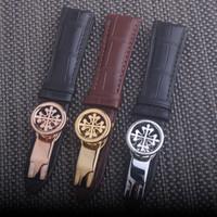 correa de reloj 21mm al por mayor-Banda de reloj Correas de cuero genuino 20 mm 21 mm 22 mm Accesorios para relojes Reloj de alta calidad en colores marrón negro