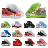 Wholesale kd lighting shoes resale online - Newest Kevin Durant s Men Basketball Shoes KD Mens Anniversary University Camouflage Trainers Designer Sports Sneakers Trainers