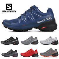 sugeçirmez tasarımcı ayakkabıları toptan satış-2019 Yeni salomon Speedcross 5 CS Erkekler Koşu Ayakkabı Siyah Beyaz Gri Mavi Kırmızı Erkek Eğitmenler Su Geçirmez Atletik Tasarımcı Sneakers 7-11.5