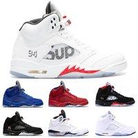 ingrosso scarpe da skate di camoscio-2020 5s V Sup Bianco Jumpman di pallacanestro scarpe da uomo in pelle scamosciata rosso blu Parigi Michigan olimpico oro metallico nero formatori 5 Designer