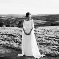 Wholesale elegant plain wedding dress for sale - Group buy Elegant Plain Mermaid Wedding Dresses Long Sleeve Off Shoulder Garden Country Beach Boho Bridal Gowns vestidos de novia Plus Size