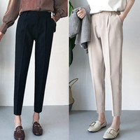 Wholesale hot new female trousers for sale - Group buy New Winter Autumn Pants High Waist Women s Pencil Pants Casual Solid Harem Pants Female Warm Female Long Trousers Hot Sale
