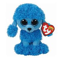 mavi köpek oyuncakları toptan satış-Ty Bere Boos Mandy Mavi Kaniş Köpek Peluş Oyuncak Çocuk Hediye