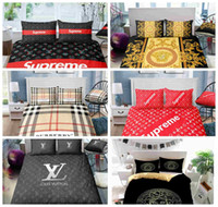 Wholesale hot pink black white bedding for sale - Group buy Thumbedding Dropship Luxury Bedding Set Fashion Designed Duvet Cover Hot Selling Modern Style Decorative Bed Set With Pillowcase