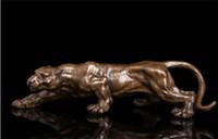 sculpture en bronze art déco achat en gros de-Art Déco Sculpture Jaguar Panthère Animal Roi De Bronze Statue ++++ Livraison Gratuite