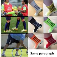 baumwollfußballsocken großhandel-Heiße Verkäufe Fußball Socken Anti Slip Soccer Socks Männer Fußballsocken Gute Qualität Baumwolle Calcetines Der gleiche Typ wie der Trusox