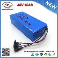 chargeurs classiques achat en gros de-Batterie de vélo électrique 48V 10Ah de 3.7V 2000mAh 18650 cellulaire 15 Amp BMS + 2A Chargeur Top Classic 700W avec boîtier en PVC LIVRAISON GRATUITE