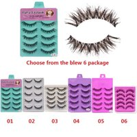 Wholesale quality eyelash extensions for sale - Group buy High Quality Pairs Crisscross Eye Lash Extension Tools False Eyelashes Set Strip Lashes Beauty Essentials