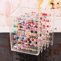 uñas eco gel al por mayor-Cajas de presentación de gel para uñas Estante de exhibición de muestra de uñas Estante de exhibición de acrílico transparente