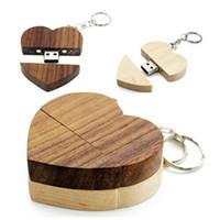 Wholesale custom flash drives resale online - Unique Heart Shape Wood USB Flash Drive Custom Wedding Studio Gift Pendrive storages gb g g g g over freelogo