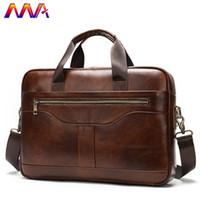 Wholesale men s messenger bags resale online - MVA New Arrivals Men s Briefcase Quality Zipper Men s Shoulder Bag and Genuine Leather Men Messenger Bag Men Casual Handbag