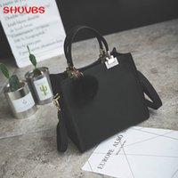 novas bolsas fosco venda por atacado-SHUNVBASHA Mulheres Crossbody New Moda feminina Shoulder Bag Bolsas de Luxo Bolsas Designer Viagem Hairball Bolsa fosco