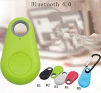 etiquetas inalámbricas al por mayor-Mini Buscador inteligente Smart Wireless Bluetooth 4.0 trazador localizador GPS de seguimiento de alarma Tag Monedero Rastreador clave con la caja al por menor MMA2002-1
