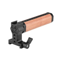 Wholesale arca swiss quick release resale online - CAMVATE Quick Release Handle Grip Wooden With ARCA Swiss Quickset Adapter For DSLR Camera Cage Kit Item Code C2354