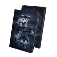 abdeckungsfall für zünden papierweiß großhandel-Für Amazon Kindle Paperwhite 1 2 3 4 Tablet Hülle Flip Cover Ständer Leder Geldbörse Farbige Zeichnung Tiger Lion Owl Flower