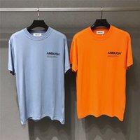 hip hop t-shirt blau großhandel-AMBUSH-T-Shirt Wen 1: 1 Qualität Solid 4 Farbe Schwarz Weiß Khaki Blau T-Shirts T-Shirts Hip Hop-Sommer-Art