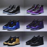 chaussures de basket enfants garçons achat en gros de-Avec la boîte Unisexe enfants Penny Hardaway Mousse One Basketball Chaussures Garçons Violet Sport Filles Sneakers pour Enfant Enfants Athletic Adolescent