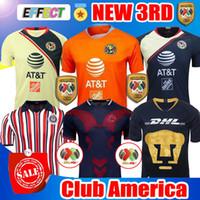 Wholesale shirt grey online - New Chivas de Guadalajara Third Jerseys World Cup Soccer Jerseys Club America Tigres UNAM MEXICO Club A PULIDO Football Shirts
