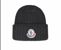 homens inverno chapéus moda venda por atacado-Nova moda francesa mens designers chapéus bonnet gorro de inverno chapéu de lã tricotada além de veludo cap skullies Mais Grosso máscara Franja gorros chapéus homem