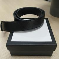 kutu incileri toptan satış-Lüks Kemerler Erkekler Kadınlar Için Tasarımcı Kemerleri Düğmesi Geniş Altın Düğme ve Inci Altın Toka Tasarımcı Kemer Kutusu ile Nakliye