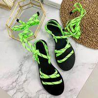 Wholesale orange sandals shoes for sale - Group buy Color Gladiator Flat Sandals Flip Sandal Big Size Designer Women s Cheap Shoes Summer