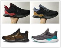 Wholesale alpha bounce resale online - 2020 Hot Sale High Quality AlphaBounce Beyonds Marbles Shark Outside Running Shoes Black White Alpha Khaki Bounce Mens Shoes