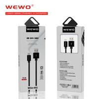 handys pakete großhandel-5 stücke verpackung WEWO Ladegerät Kabel für iPhone X 2.1A Nylon Geflochtene Telefon Ladegeräte Kabel für Samsung Huawei P20 Handys Micro-USB Typ-C