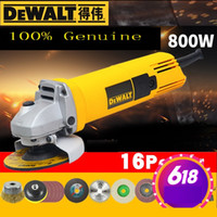 Discount cut off grinder DWL810 Angle Grinder 100% Genuine Cut Off Tool Hand Electric Drill Industrial-Grade Speed Regulation Electric Drill 100% positive feedback