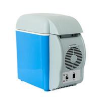 Wholesale 12v fridge portable coolers for sale - Group buy 12v Car Fridges Mini Fridge Travel Refrigerator Multi Function12V Thermoelectric Car Cooling And Warming Portable Refrigerator