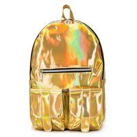 Wholesale backpacks for girls college for sale - Group buy New Laser Travel Bag College Bag Student Backpack Solid Color Backpack For Girls