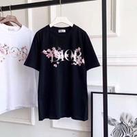 femmes fleurs de cerisier achat en gros de-T-shirt en coton à manches courtes pour femmes, été, manches courtes