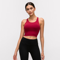 01 lu bras yoga sports solid color crop tops crossing backless beauty sexy bras gym clothings running clothes