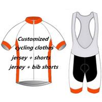 solo ropa de hombre al por mayor-Personalizado solo para el cliente: mgarridoro_SgD Ciclismo Jersey Pro Team Hombres Ropa de ciclismo Camisas de bicicleta Conjunto de babero de bicicleta Y080301