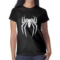blousons blancs femmes achat en gros de-SpiderMan-logo-white-Spider- Femme T-shirt noir Chemises sur mesure T-shirts Drôle Sous-chemise Champion Bulk Shirt Noir