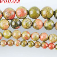 Wholesale gem stone accessories for sale - Group buy WOJIAER Piece Natural Gem Stone Unakite Jaspers Round Beads mm Fit Diy Charms Beads Jewelry Making Accessories DBY914