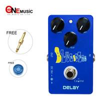 effets de la caline achat en gros de-La pédale d'effet guitare Caline CP19 Blue Delay contrôle le temps de retard de 25 ms à 600 ms Connecteur libre