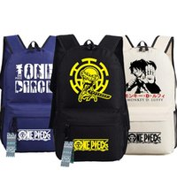 Wholesale monkey water for sale - Group buy Men Women Unisex Japan Anime One Piece Trafalgar D Water Law Monkey D Luffy Backpack Bag School Shoulder Travel Bag