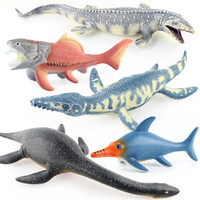 Wholesale children s interactive toys for sale - Group buy Children Soft Silcone Cotton Filling Model Seabed Dinosaur World Plesiosaur Mosasaur Deng S Fish Slip Tooth Dragon Model Toy