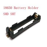 ingrosso batterie di bronzo-Contenitore di batteria SMD SMT del supporto della batteria di 1 x 18650 di alta qualità con i perni bronzei che irradiano il supporto di calore di Shell della batteria