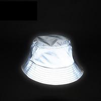 Wholesale glowing hats resale online - Man Women Unisex Reflective Hat Glow In The Dark Hip Hop Outdoor Summer Beach Fishing Sun Bucket Hat Bob Chapeau Caps Wfgd809 Y19070503