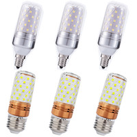 Wholesale e12 corn led bulbs resale online - E27 E14 E12 LED Corn lamp High power W W SMD2835 Candle Bulb Chandelier Candle LED Light For Home Decoration
