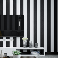 Wholesale nursery room decorations for sale - Group buy 3d modern simple black and white rough strips wallpaper pvc waterproof living room bedroom TV Sofa background wall decoration