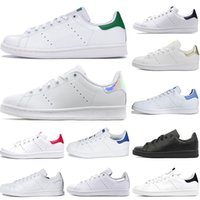 Wholesale table tennis shoes size 45 for sale - Group buy 2019 Smith shoes for mens womens Stan designer black white red blue silver pink smith best sneakers Casual shoes size
