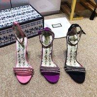 новый модный рынок оптовых-Весна / лето Новый стиль на рынке, женские босоножки на высоком каблуке, инкрустированные бриллиантами, уличный стиль модные босоножки на высоком каблуке