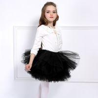 juguetinha de saia princesa venda por atacado-Moda Meninas Tutu Super Fofo 6 Camadas petticoat Princesa Ballet Dança Tutu Saia Crianças Bolo Saia Chritsmas Roupas Infantis