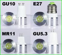 ingrosso ha condotto le luci del posto interne-DHL 15/20 gradi fascio stretto lampada angolo punto dimmable lampadina riflettore mini 1W 3W GU10 E27 MR11 MR16
