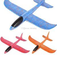 diy oyuncak uçak modeli toptan satış-El Lansmanı Atma Köpük Palne EPP Uçak Modeli Planör Düzlem Uçak Modeli Çocuklar Için Açık DIY Eğitici Oyuncak C5809