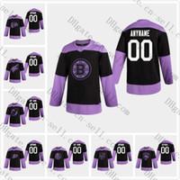 hokey formaları panter formaları toptan satış-2020 Özel Herhangi adı S 6XL Siyah Hokeyi Kanser Pratik Jersey Takım Boston Bruins Ducks Mücadele Ediyor Blackhawks'ın Çakallar Devils Panterler Adalılar